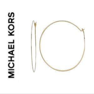 NWT authentic MK gold tone light hoop earrings